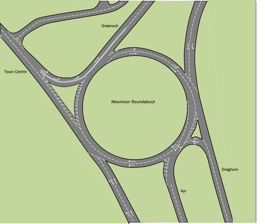 Newmoor Roundabout in Irvine