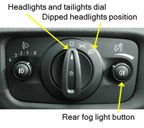 Show and Tell (Vehicle Safety Checks) -Lights diagram